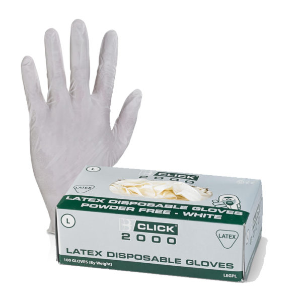 Click Latex Disposable Gloves 100 Pairs